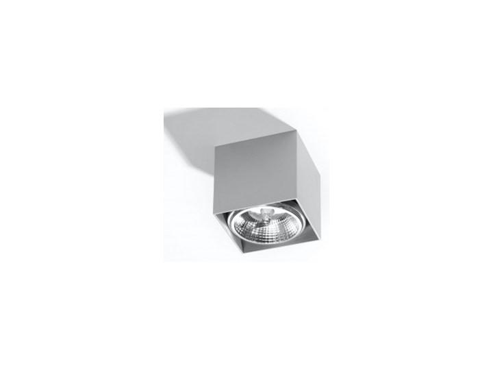 Minimalistyczny Plafon BLAKE szary Lampa aluminium kwadrat na sufit Idealna do salonu, sypialni, korytarza Oprawa sufitowa żarówka GU10 Oświetlenie SO