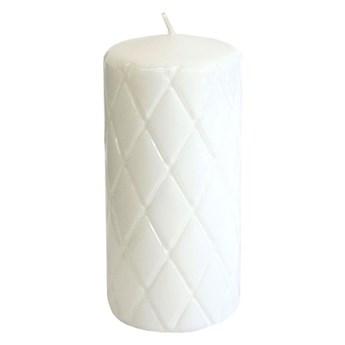 Świeca pieńkowa Pik biała wys. 15 cm
