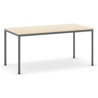 Stół do jadalni i stołówki, ciemnoszara konstrukcja, 1600 x 800 mm, dąb