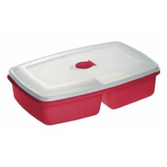 Pojemnik plastikowy PLAST TEAM Micro Twin 31040801 2.5 L Czerwony
