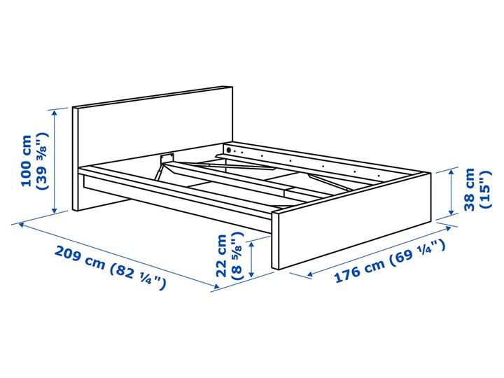 IKEA MALM Rama łóżka, wysoka, Brązowa bejca okleina jesionowa, 160x200 cm Łóżko drewniane Drewno Kategoria Łóżka do sypialni Kolor Brązowy