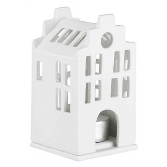 Lampion porcelanowy domek - dom miejski 10,5 cm RAEDER