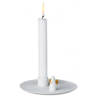 Świecznik porcelanowy Anioł stróż złoty RAEDER