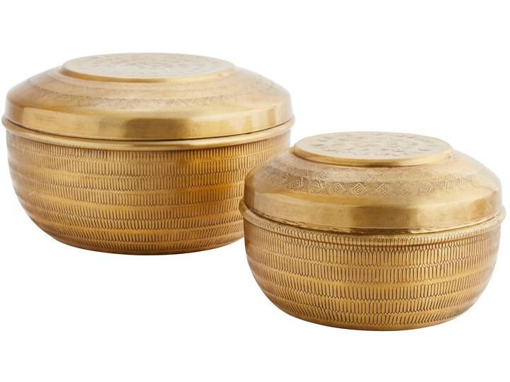 Pojemniki ozdobne Mata 20x13 cm złote (2-set) Kolor Złoty Kategoria Pojemniki i puszki