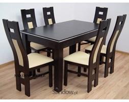 Zestaw do salonu S-22 ALU okleina 80x140 do 180 lub 80x140 do 195 + 6 krzeseł K-41bp