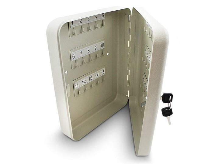 Metalowa szafka na klucze jasny szary Kategoria Szafki i wieszaki na klucze