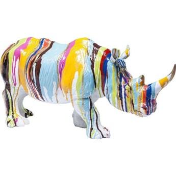 Figurka dekoracyjna Rhino 55x26 cm kolorowa
