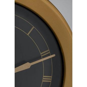 Zegar Opera 24x22 cm czarno-złoty