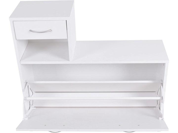 Zestaw do przedpokoju Eliza - szafka na buty + wieszak z lustrem biały Kategoria Zestawy mebli do sypialni Kolor Szary