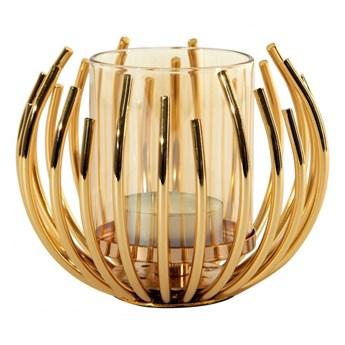 Świecznik dekoracyjny Rossi 11x8cm złoty kod: 368172