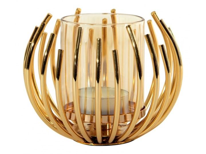 Świecznik dekoracyjny Rossi 11x8cm złoty kod: 368172 Metal Kategoria Świeczniki i świece