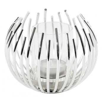 Świecznik dekoracyjny Rossi 12x10cm srebrny kod: 368174