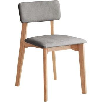 Krzesło biurowe z jasnoszarym obiciem tekstylnym, DEEP Furniture Max