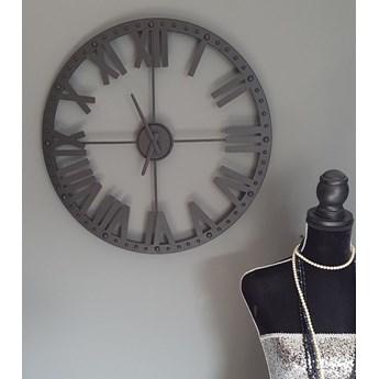 Zegar ścienny, metalowy,