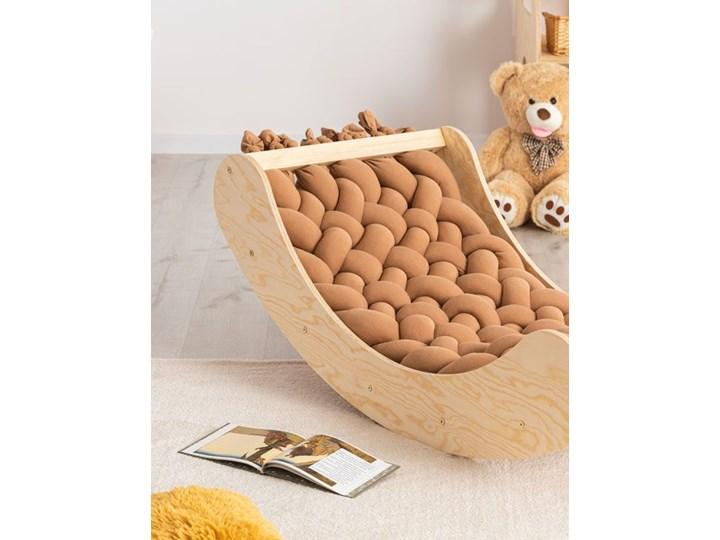 Karmelowa drewniana kołyska dziecięca - Tulis Kołyski Drewno Kategoria Kolor Beżowy