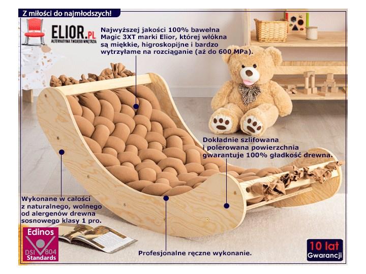 Karmelowa drewniana kołyska dziecięca - Tulis Kołyski Kategoria Drewno Kolor Beżowy