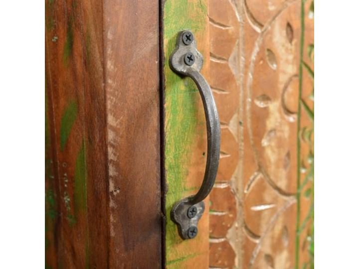 vidaXL Zestaw mebli łazienkowych z drewna odzyskanego, lustro i 2 szafki Drewno Kategoria Zestawy mebli łazienkowych Kolor Brązowy