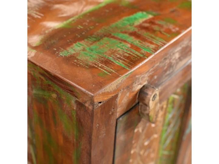 vidaXL Zestaw mebli łazienkowych z drewna odzyskanego, lustro i 2 szafki Kategoria Zestawy mebli łazienkowych Drewno Kolor Brązowy