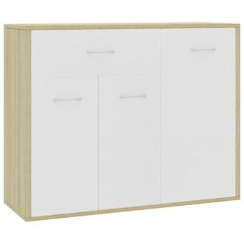 vidaXL Szafka, biel i dąb sonoma, 88 x 30 x 70 cm, płyta wiórowa