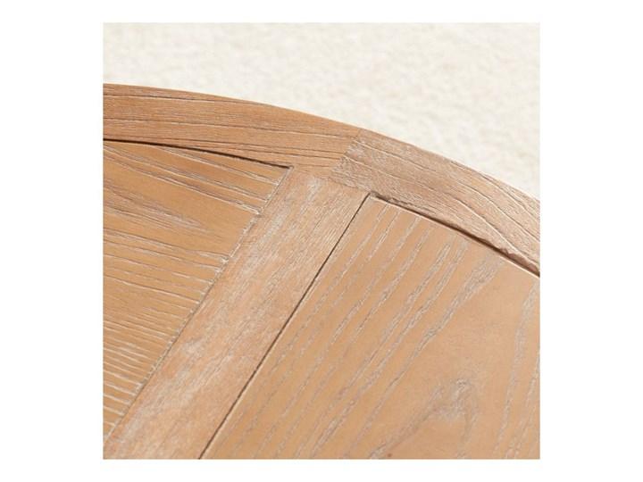 Stolik okrągły Kendari natural 90cm, 90 × 46 cm Metal Drewno Styl Nowoczesny