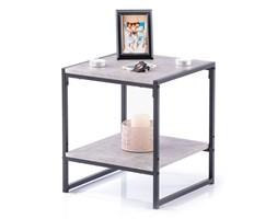 Stolik kawowy do salonu Industrialny Szaro Czarny Loft Kamień COXE