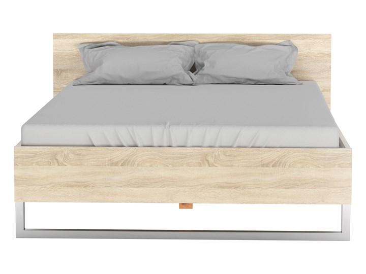 Eleganckie łóżko z wezgłowiem Style 140x200 dąb sonoma Pojemnik na pościel Bez pojemnika