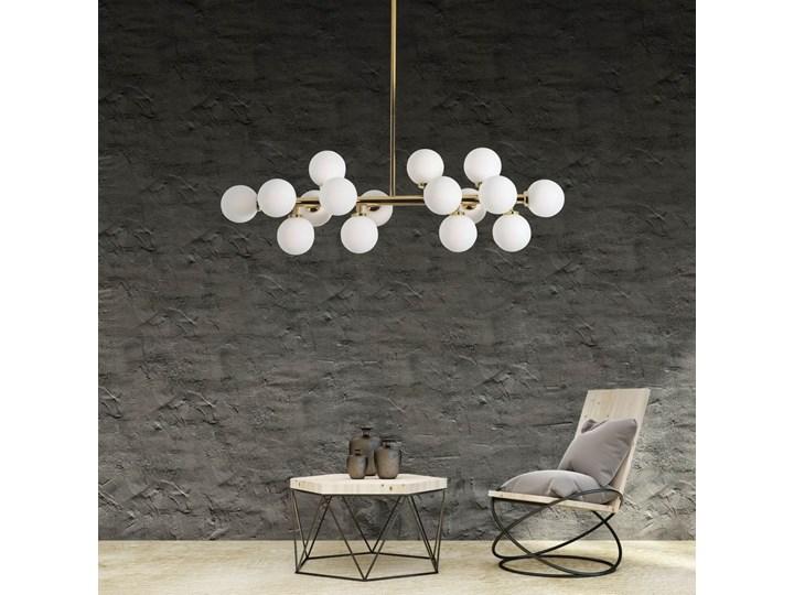 Lampa wisząca Petrica Złoto Metal Kategoria Lampy wiszące Stal Lampa z abażurem Lampa z kloszem Szkło Funkcje Brak dodatkowych funkcji