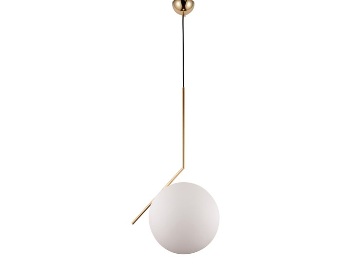 NOWOCZESNA LAMPA WISZĄCA MOSIĘŻNA SORENTO D30 Lampa z abażurem Szkło Mosiądz Lampa z kloszem Metal Styl Nowoczesny