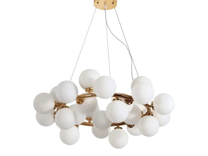 NOWOCZESNA LAMPA WISZĄCA MOSIĘŻNA MARSIADA W25 Lampa z abażurem Szkło Lampa LED Lampa z kloszem Metal Mosiądz Kategoria Lampy wiszące Styl Industrialny