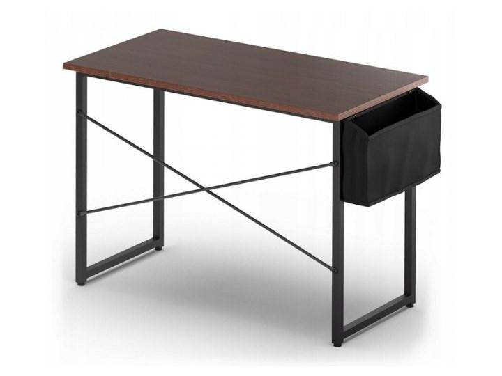 Biurko proste z bocznym organizerem Kolor Szary