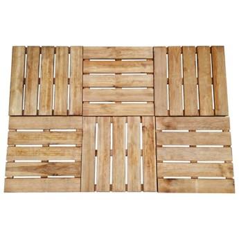 VidaXL Płytki tarasowe, 6 szt., 50 x 50 cm, drewno, brązowe