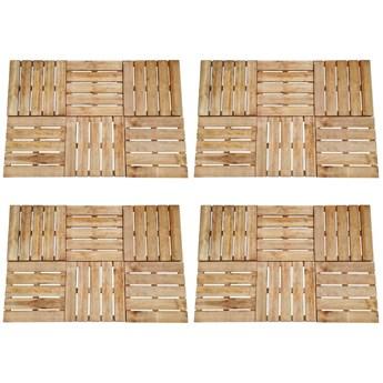 VidaXL Płytki tarasowe, 24 szt., 50 x 50 cm, drewno, brązowe
