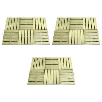 VidaXL Płytki tarasowe, 18 szt., 50 x 50 cm, drewno, zielone