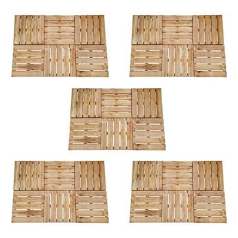 VidaXL Płytki tarasowe, 30 szt., 50 x 50 cm, drewno, brązowe