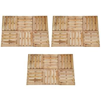 VidaXL Płytki tarasowe, 18 szt., 50 x 50 cm, drewno, brązowe