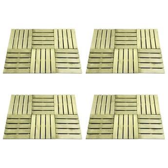 VidaXL Płytki tarasowe, 24 szt., 50 x 50 cm, drewno, zielone