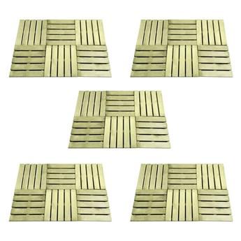 VidaXL Płytki tarasowe, 30 szt., 50 x 50 cm, drewno, zielone