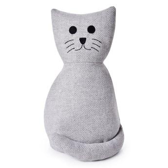 Tekstylny stoper do drzwi w kształcie kota
