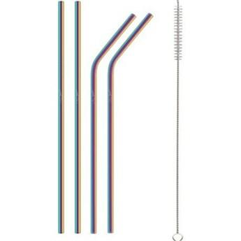 Słomki metalowe LAMART LT7053 4 szt.
