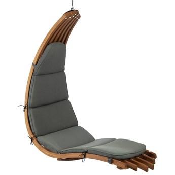 Fotel wiszący drewniany - Leżanka Wave Grafit