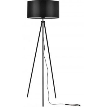 Lampa Stojąca z Abażurem Trójnóg Podłogowa