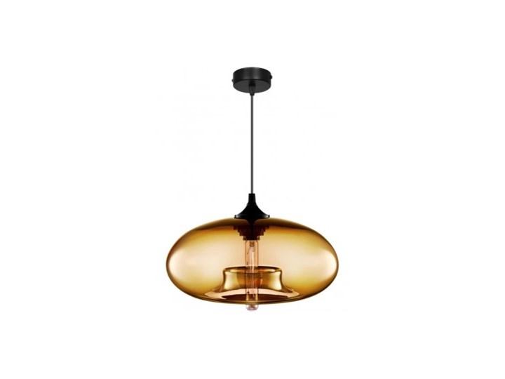 Designerska Lampa Wisząca Pojedyncza ze Szklanym Kloszem Lampa LED Lampa z kloszem Szkło Ilość źródeł światła 1 źródło Metal Kolor Beżowy