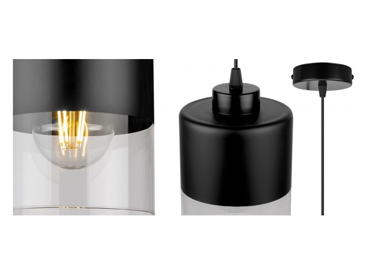 Lampa Wisząca Pojedyncza Nowoczesna z Regulacją Styl Nowoczesny Lampa LED Szkło Lampa z kloszem Metal Kategoria Lampy wiszące