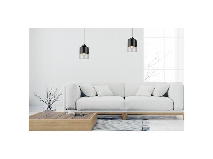 Lampa Wisząca Pojedyncza Nowoczesna z Regulacją Lampa z kloszem Lampa LED Metal Kategoria Lampy wiszące Szkło Kolor Szary