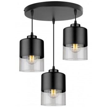 Lampa Wisząca Nowoczesna ze Szklanymi Kloszami z Metalu