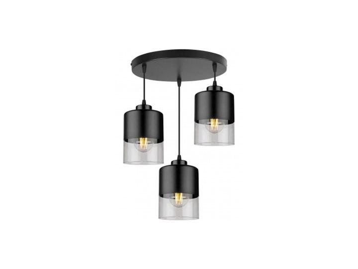 Lampa Wisząca Nowoczesna ze Szklanymi Kloszami z Metalu Szkło Kolor Szary Lampa z kloszem Kategoria Lampy wiszące