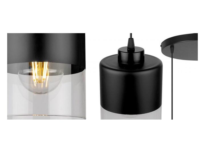 Lampa Wisząca Nowoczesna ze Szklanymi Kloszami z Metalu Szkło Lampa z kloszem Ilość źródeł światła 3 źródła Styl Nowoczesny