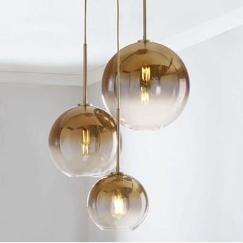 Mirror ball gold - lampa wisząca nowoczesna 30cm