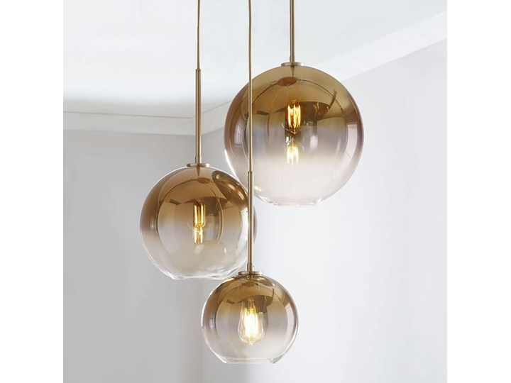 Tremble  - nowoczesna lampa wisząca Ilość źródeł światła 1 źródło Lampa z kloszem Metal Mosiądz Lampa kula Szkło Pomieszczenie Łazienka