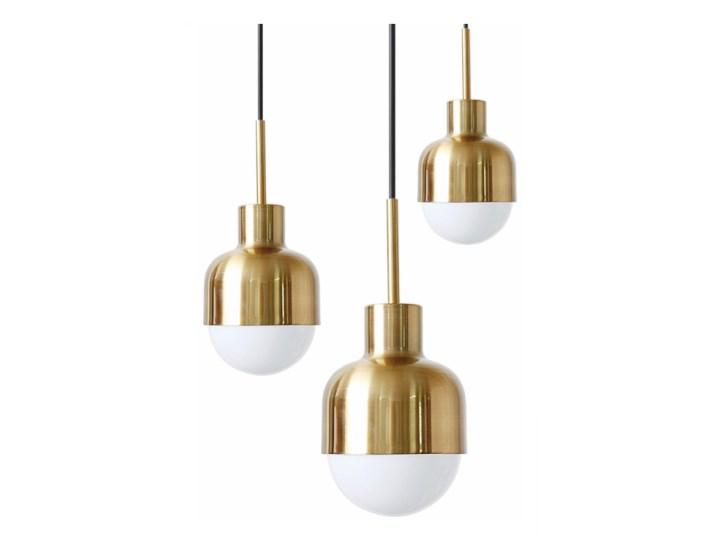 Visor Black - lampa wisząca nowoczesna Funkcje Brak dodatkowych funkcji Metal Lampa z kloszem Mosiądz Kolor Czarny